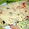 Pain de poisson et crevettes
