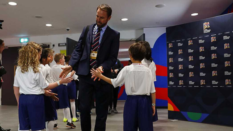 GARETH SOUTHGATE WITH CHILD