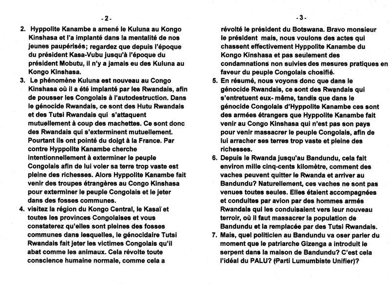 LA DIFFERENCE ENTRE LE GENOCIDE RWANDAIS ET LE GENOCIDE DU PEUPLE CONGOLAIS PAR HYPPOLITE KANAMBE b