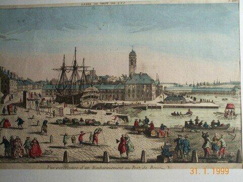 vue embarquement au port de Brest