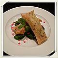 Pâtés impériaux au coeur de foie gras (nems) et sauce caramélisée au sésame