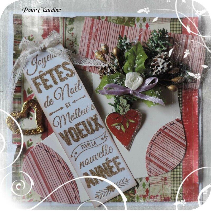 Pour Claudine & ses Créas * Noël 2015