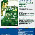 Conférence à l'ulb le 10 mars