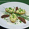 Morilles en coques de pommes de terre