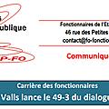 Le 49-3 du dialogue social !