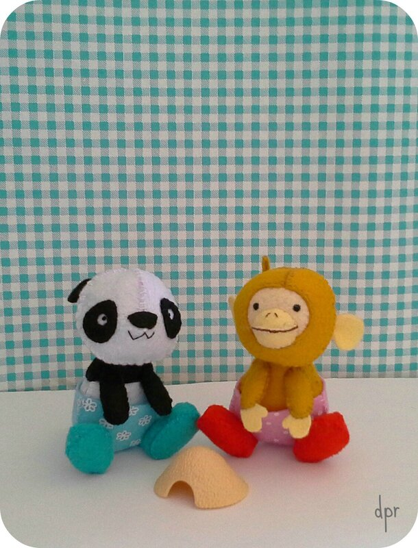 panda et singe