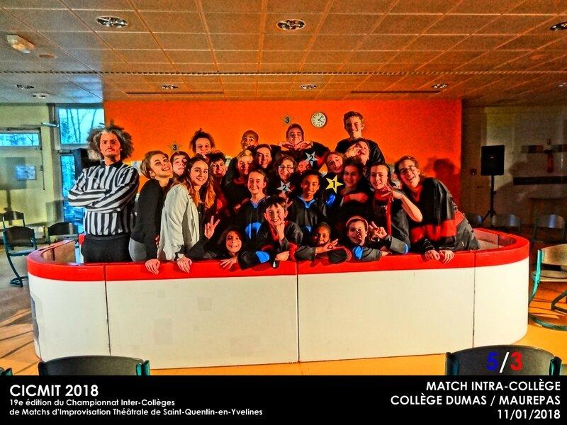 MATCH INTRA DUMAS CICMIT 2018