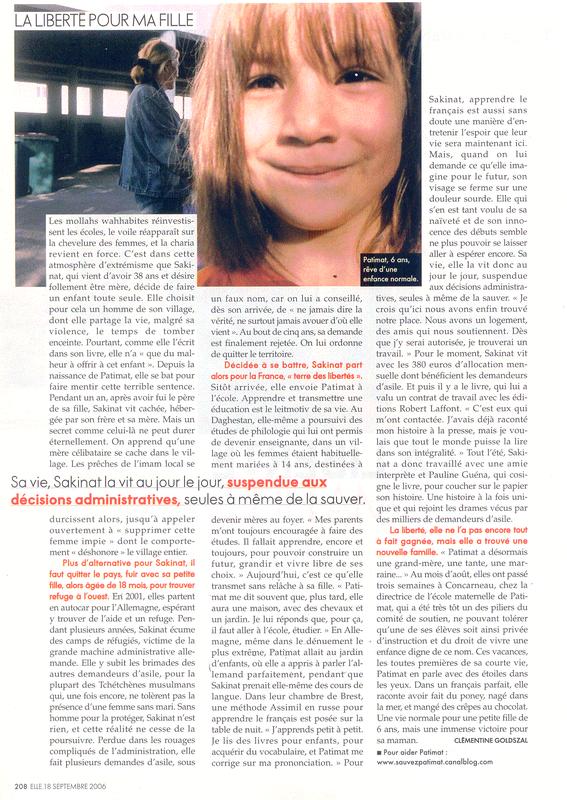 ELLE 18 sept 2006 (2)