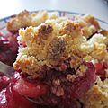 Crumble pommes & fruits rouges