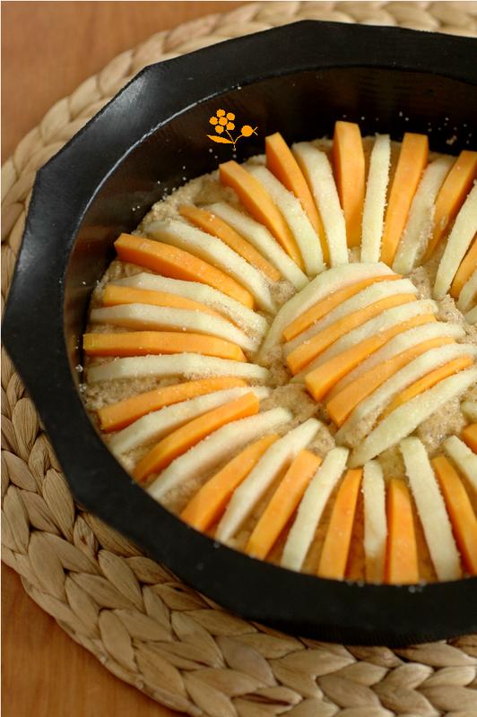 Gâteau noisette, pomme, butternut, quatre-épices_1