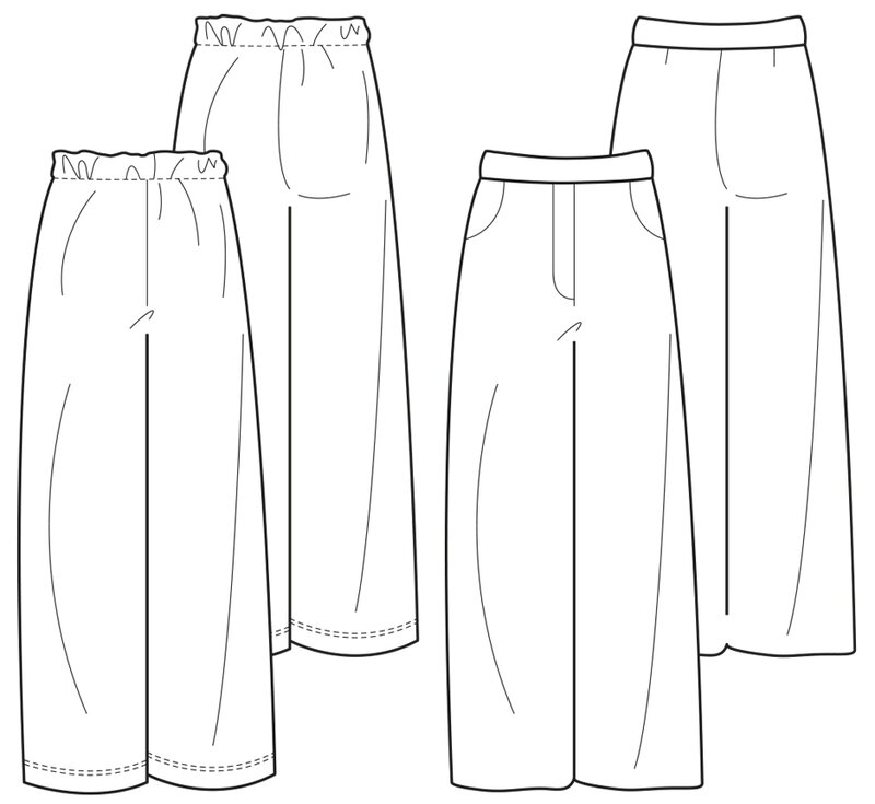The Maker's Atelier - Wide-Legged Trouser