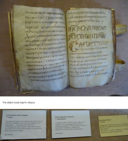 The oldest book kept in Alsace
