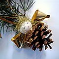 ANGES POMME PIN POUR DECO SAPIN NOEL