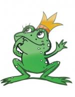 cartoon-frog-prince-vector-material-18610