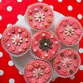 Cup-cakes à la rose, 100% naturels!!!