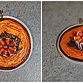 Pendentif Marron et Orange