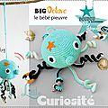Cadeaux de naissance - Hochet-Doudou à suspendre au Crochet - BIG Octave le Bébé Pieuvre - fait main Made in France (5)