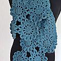 Echarpe fleurs bleues-crochet-La chouette bricole (4)
