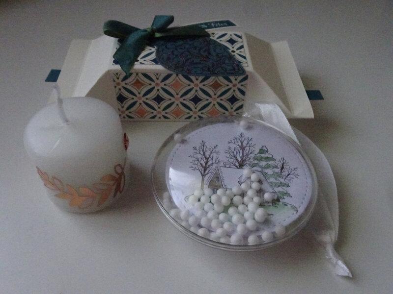 15f Atelier Papillote cracker, Boule à neige et Bougie décorée