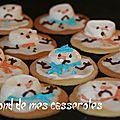 Melted snowman cookies (biscuit bonhomme de neige fondu)