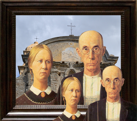 Grant Wood American Gothic Obsession Two