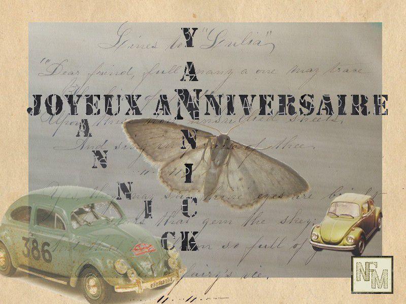 Carte Anniversaire Yannick.Joyeux Anniversaire Yannick Nfm Nath Fait Main