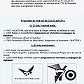 Hommage au mérite de la 1ère division blindée polonaise, programme du 22 au 23 août 2014 en normandie.