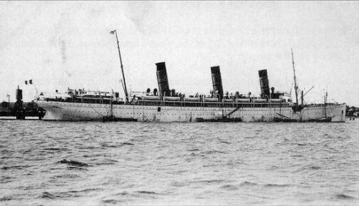 S/S Burdigala, Pauillac (Bordeaux, France) 1912.