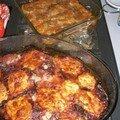 Gratin de pommes de terre et aubergines a la parmigiane