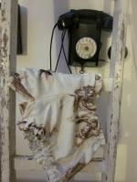 Culotte BIANCA en satin de coton fleuri chocolat sur fond écru - noeud vichy chocolat (2)