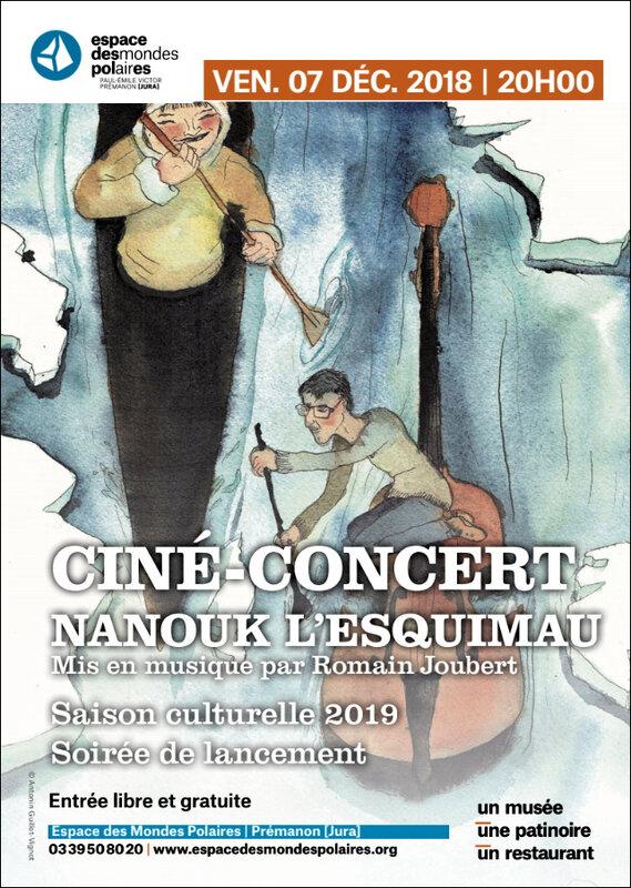 Affiche CINÉ-CONCERT NANOUK L'ESQUIMAU
