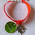 Bracelet sur ruban pour une Nounou