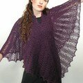 Dk weight victorian lace poncho