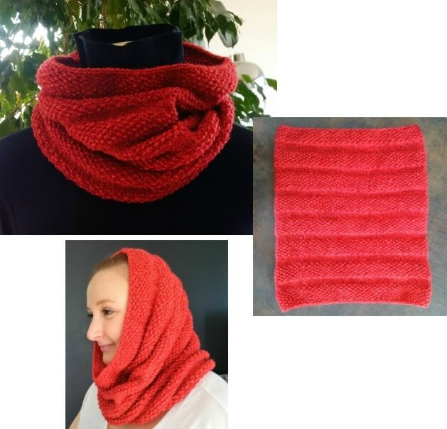 snood col rouge