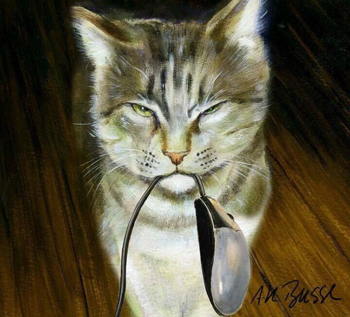 chat souris électonique