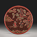 A polychrome lacquer circular box and cover, ming dynasty, 17th century