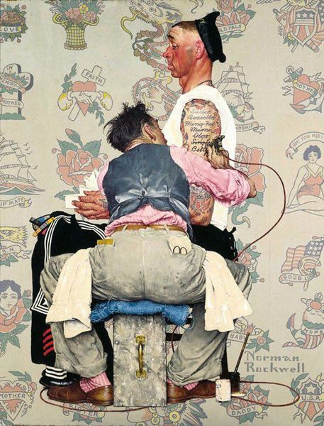 Betty tatouage norman rockwell