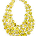 An exotic eighteen karat gold necklace