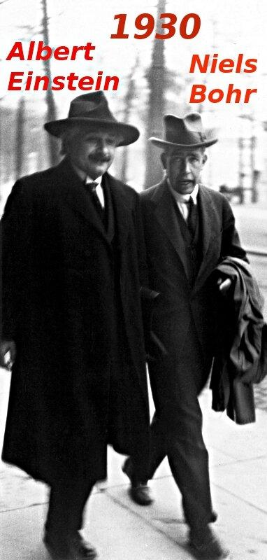 1930-Albert Einstein et Niels Bohr