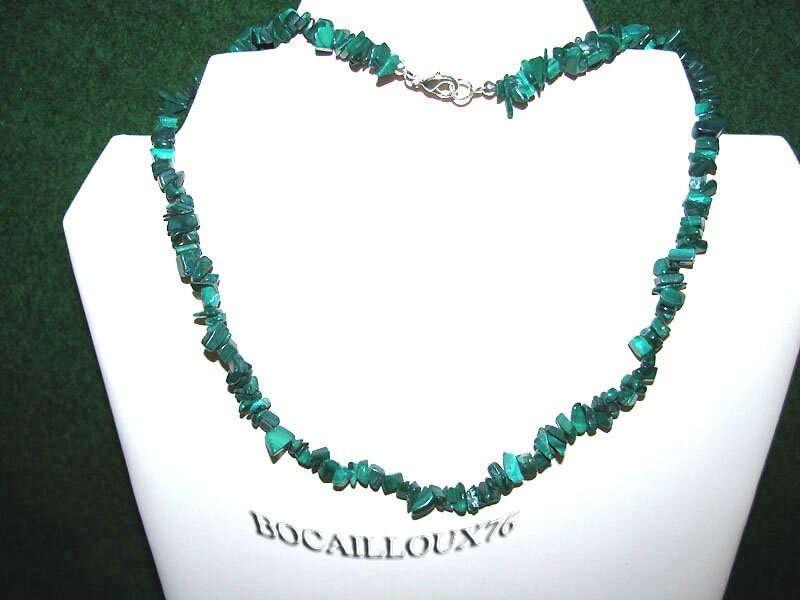 COLLIER MALACHITE 8