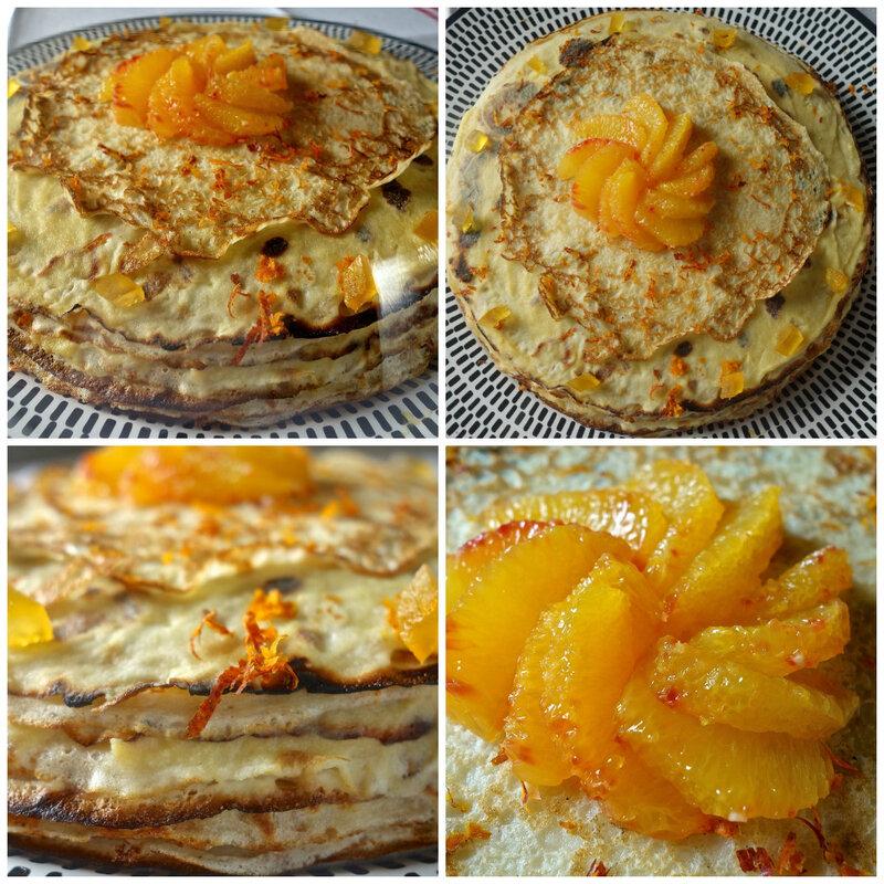 gâteau de crêpes à l'orange curd