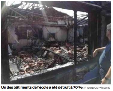 2019 09 16 SO Une école ravagée par un incendie2