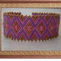 Bracelet rose et cuivre