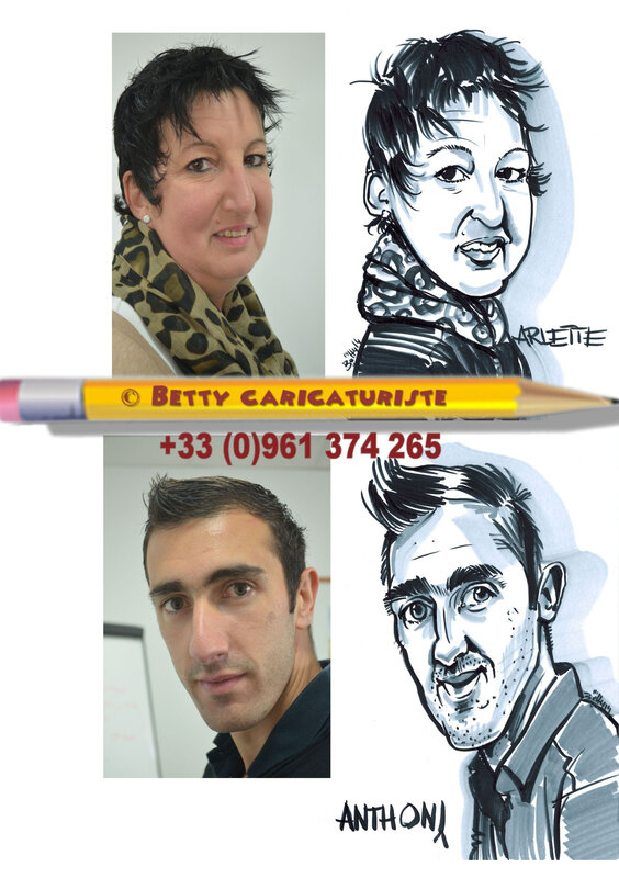 Marque-place caricatures Betty