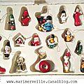 boîte à petits sujets de Noël en bois - Marimerveille