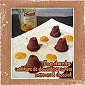 Fondants confiture de clémentines corses marius bernard marrons & chocolat (sans farine)
