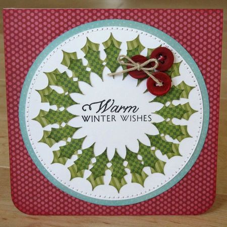 Wreath Warm Winter Wishes Card
