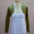 Ma tenue de mariée : le green boléro...en cas de temps pluvieux...
