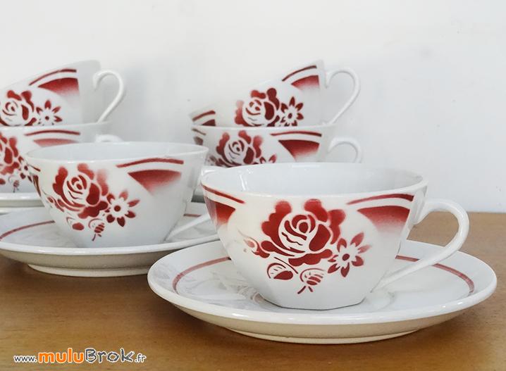 TASSES-SARREGUEMINES-Roses-1-muluBrok-Vintage