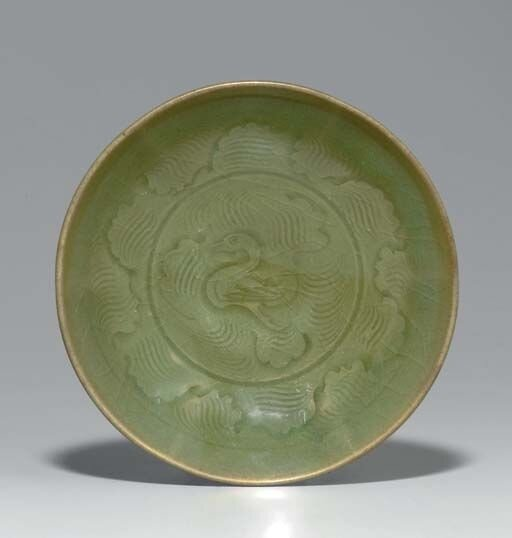 A_Yaozhou_celadon_dish__Northern_Song_Jin_Dynasty__12th_13th_century